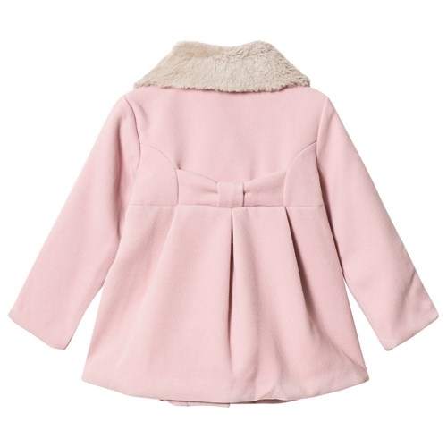 Faux Fur Collar Jacka Rosa Dr Kid Babyshop
