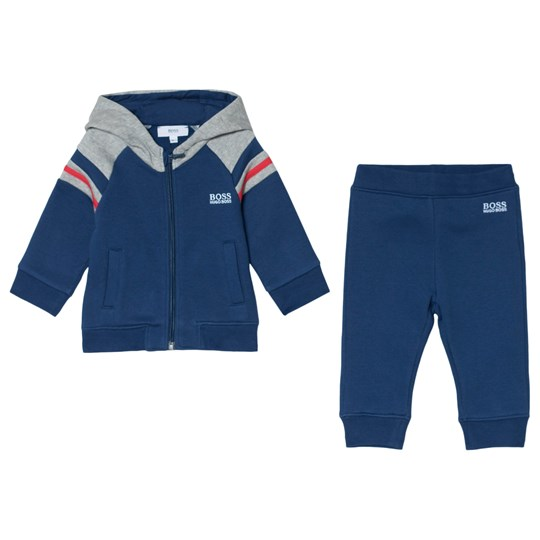 BOSS Navy and Grey Branded Tracksuit 811