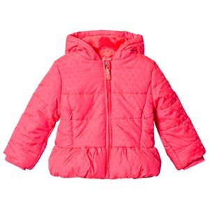 Image of Billieblush Pink Flocked Heart Hooded Puffer Coat 2 years (1118540)