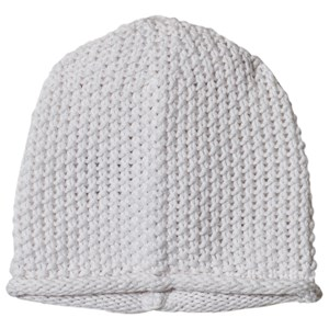 Image of The Little Tailor White Bobble Stitch Knitted Beanie 6-12 months (1207373)