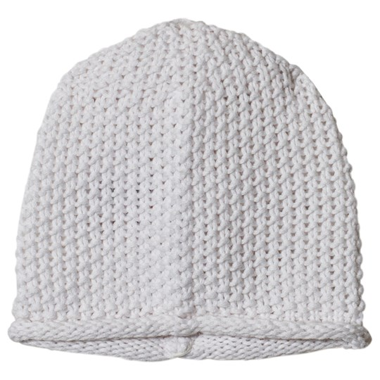 The Little Tailor White Bobble Stitch Knitted Beanie G