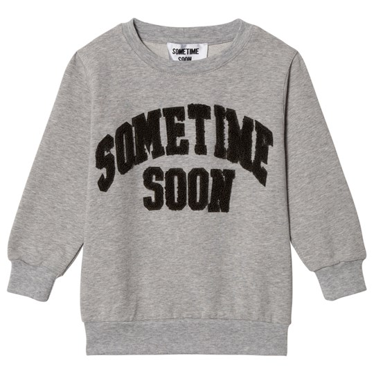 Sometime Soon College Crewneck Grey Melange Grey Melange