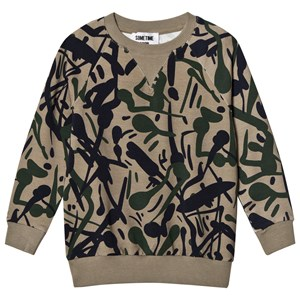 Image of Sometime Soon Anthony Crew Sweatshirt Camo 10 år (3057831345)
