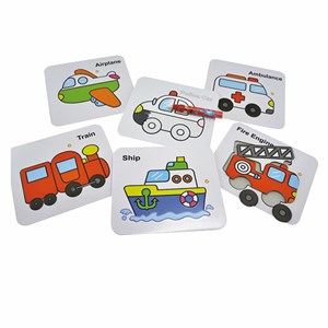 Image of Play Puzzle and Colouring Vehicles 3 - 6 år (3057829859)