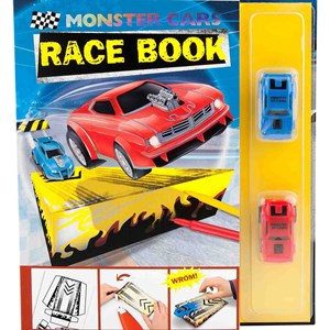 Image of Play Monster Cars Race Book with 2 Cars 4 - 8 years (3057829889)