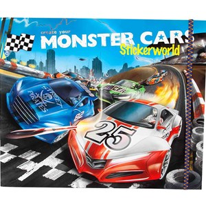 Image of Play Monster Cars Stickerworld 4 - 8 years (3057829891)