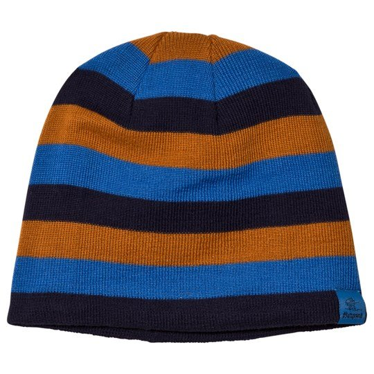 Bergans Navy / Athens Blue Striped Frost Beanie Navy/Athens Blue/Desert