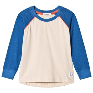 Image of Indikidual Blue and Stone Baseball Style Long Sleeve Tee 4-5 years (3058026637)