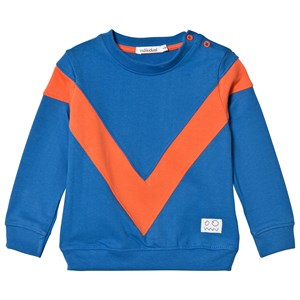 Image of Indikidual Blue and Orange V Panel Sweatshirt 12-24 months (3058026743)