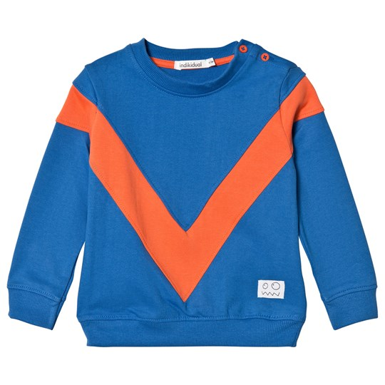 Indikidual Blue and Orange V Panel Sweatshirt Blue