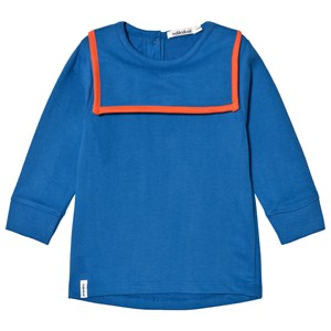 Image of Indikidual Blue and Orange Sailor Neck Sweatshirt 12-24 months (3058026753)