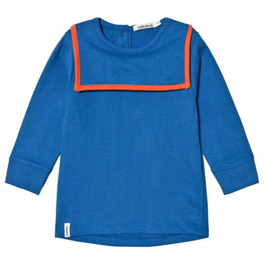 Indikidual Blue and Orange Sailor Neck Sweatshirt Blue