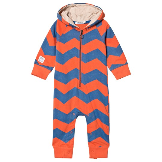 Indikidual Red and Blue Zig Zag Striped Onesie Green