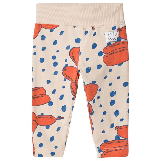 Indikidual Stone and Red Balloon Dog Leggings Stone