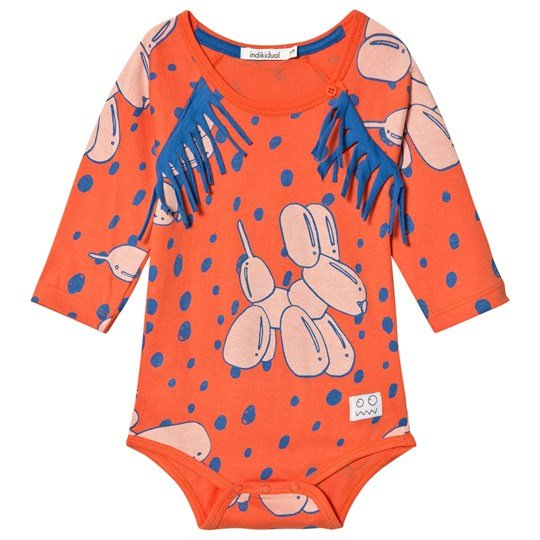 Indikidual Red Balloon Dog Baby Body Red