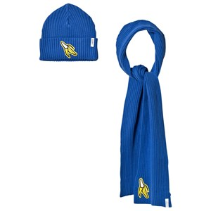 Image of Indikidual Blue Banana Patch Beanie and Scarf (3058027037)