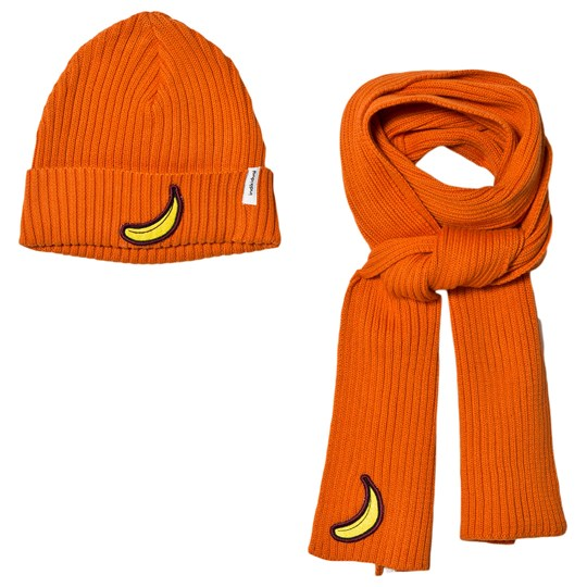 Indikidual Banana Patch Mössa och Halsduk Set Orange Orange