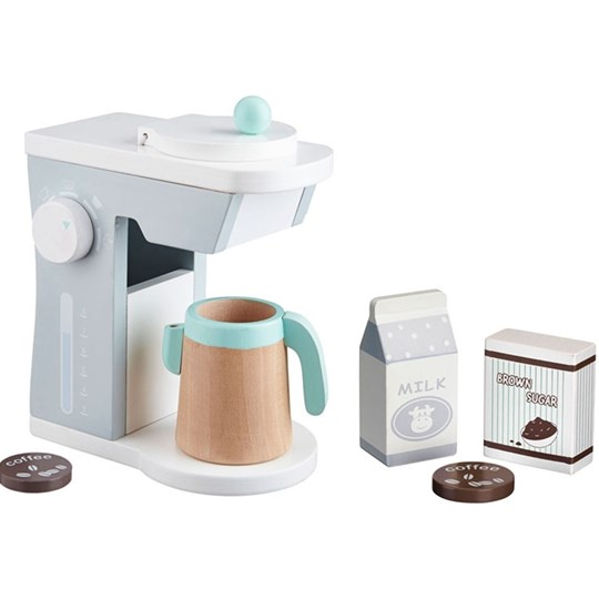 Kids Concept Coffee Maker Set Grey Белый