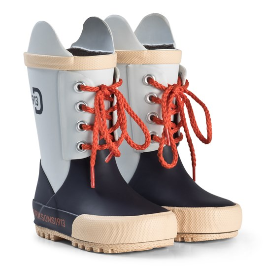 Didriksons Splashman Kid's Boots Navy and Snow White Navy