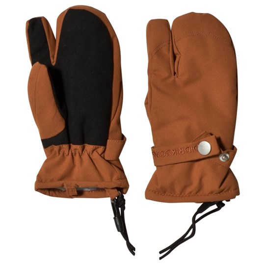 Didriksons Originals Palm Kids Gloves Leather Brown Leather Brown