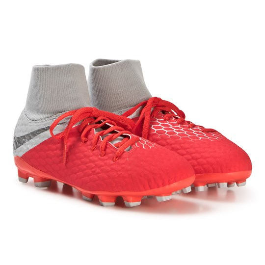 NIKE Grey Hypervenom Phantom III Academy Dynamic Fit FG Shoes 600