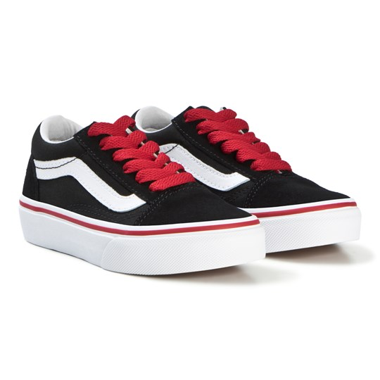 Vans - Black Racing Red Pop Old Skool Shoes - Babyshop.com 70c78c896