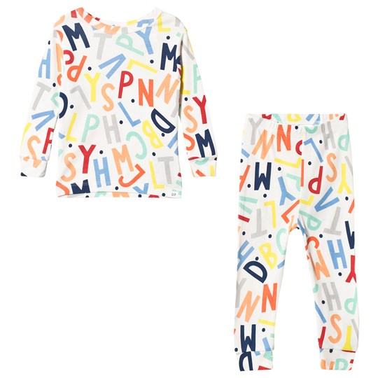 GAP ABC Pyjama Set New Off White NEW OFF WHITE