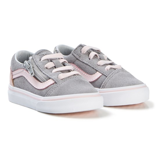 f2c256a43b7 Vans - Alloy Heavenly Pink Old Skool Zip Shoes - Babyshop.com