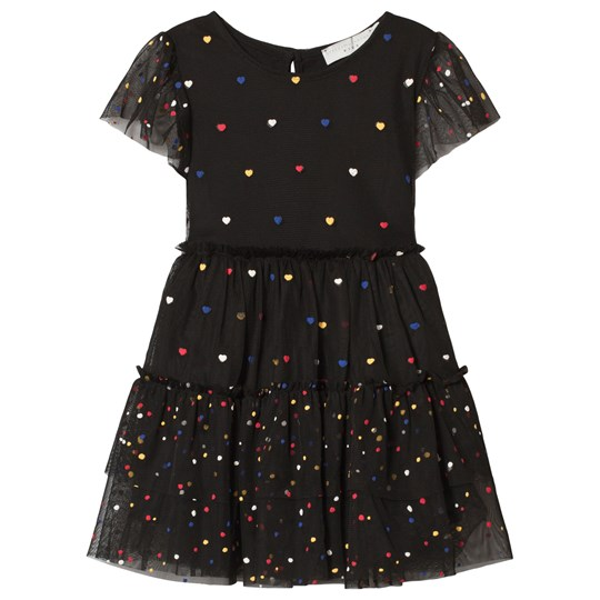 Stella McCartney Kids Black Heart and Spot Tulle Dress 1081 - Multicolor Dots Pr