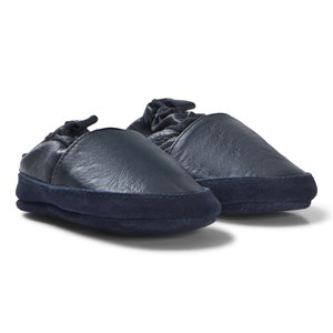 Image of Melton Loafer Leather sko Blue 0-6M 16-19 (3058027345)