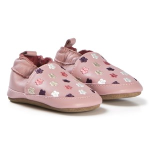 Image of Melton Flowers Leather sko Pink 18-24M 23-24 (3058027359)