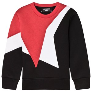 Image of Neil Barrett Black Sweatshirt with Red and White Star 10 Years (3058848117)