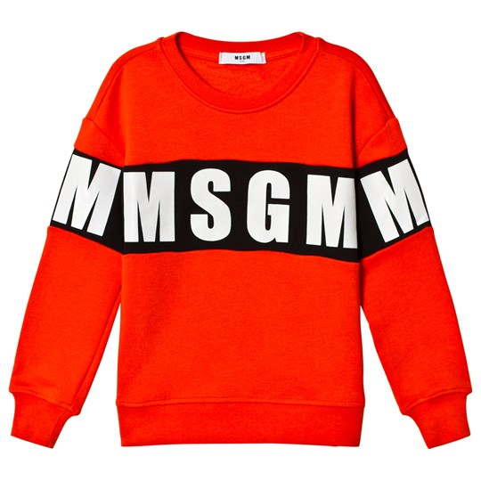 MSGM Orange Logo Sweatshirt 30
