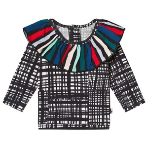 Image of Noe & Zoe Berlin Black Net Ruffle Collar Top 3-6 months (3125259935)
