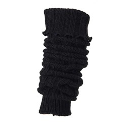 Melton Legwarmer Knit Black