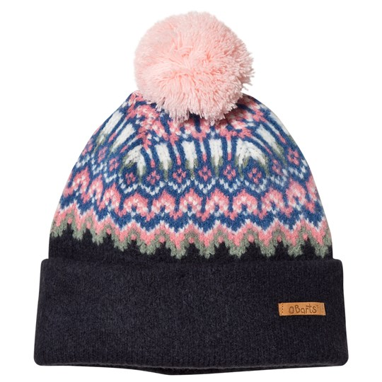 Barts Navy Drew Patterned Beanie Navy