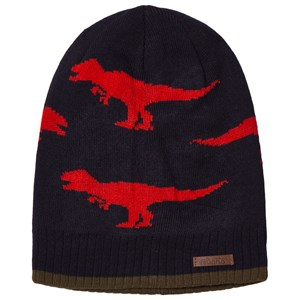 Image of Barts Navy and Red Dinosaur Thorn Beanie 53-55cm (4 - 8 years) (1140575)