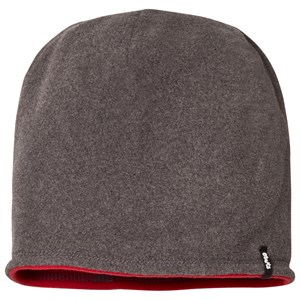 Image of Barts Grey/Red Reversible Fleece Beanie 53cm (4 years+) (3058850077)