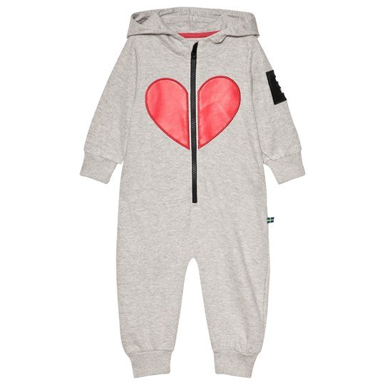 The BRAND Heart Onesie Grey Melange