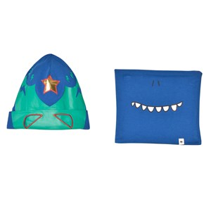 Image of Billybandit Blue Cut Out Beanie and Fleece Snoof Set T1 (2-5 years) (3058848035)