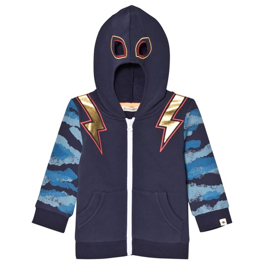 Billybandit Navy and Camo Hoody with Gold Lightening Bolt Print 85T