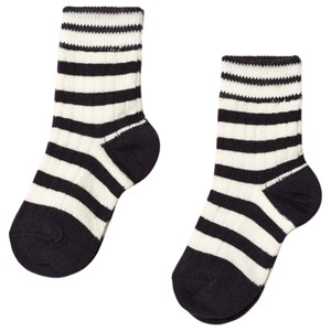 Image of FUB 2-Pack Socks Ecru/Navy 19-21 (9-12 mdr) (3057463141)