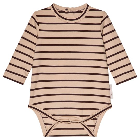 Tinycottons Small Stripes Baby Body Nude/Plum nude/plum