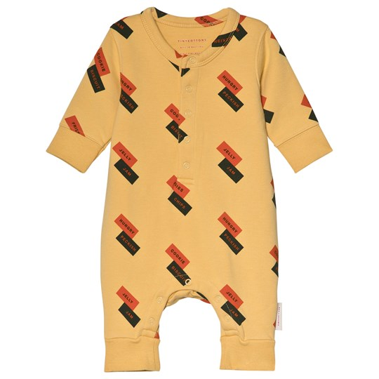 Tinycottons English Domino Fleece One-Piece Sand sand/red/dark green