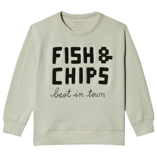 Tinycottons Fish & Chips Graphic Tröja Pistachio pistacho/dark green