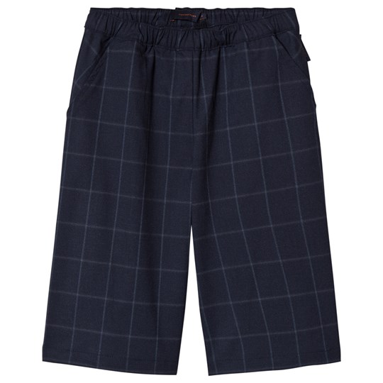 Tinycottons Grid Flannel Cool Pants Navy Navy