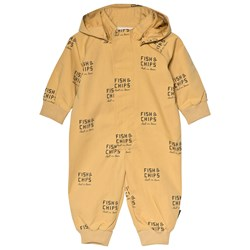 Tinycottons Fish & Chips Coverall Sand