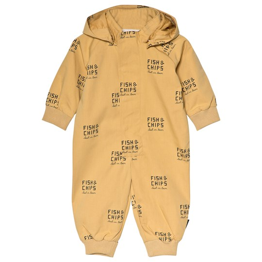 Tinycottons Fish & Chips Coverall Sand sand/navy