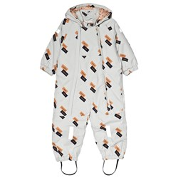 Tinycottons English Dominos Snow Suit Light Grey