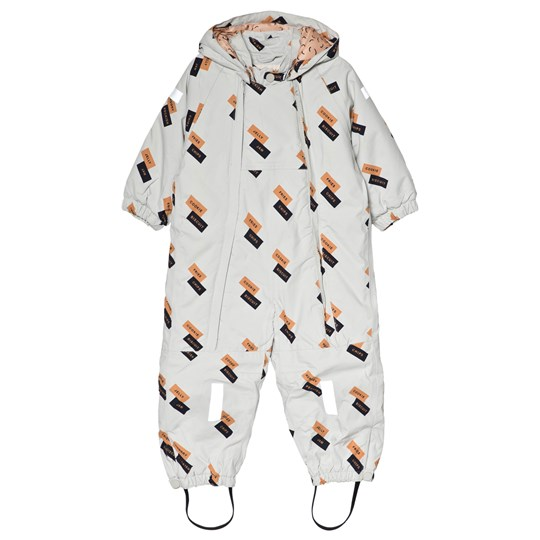 Tinycottons English Dominos Snow Suit Light Grey light grey/dark nude/navy